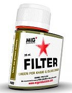 MIG Enamel Green Filter for Khaki & Olive Green 35ml Bottle (Re-Issue)