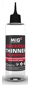 MIG Universal Thinner for Acrylics 200ml Bottle