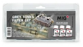 MIG Enamel Grey Tones Filter Set (3) 35ml Bottles