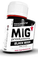 MIG Enamel Black Wash 75ml Bottle