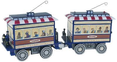 Mr Christmas World's Fair Vignettes -- Operating Trolley