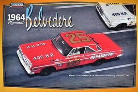 Model-King 1964 Plymouth Stock Car Plastic Model Car Kit 1/25 Scale #11254