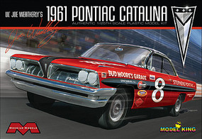 Model-King 1961 Pontiac Catalina Lil Joe Weatherly Plastic Model Car Kit 1/25 Scale #1221