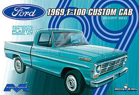 Model-King 1969 Ford F-100 Custom Cab Plastic Model Truck Kit 1/25 Scale #1227