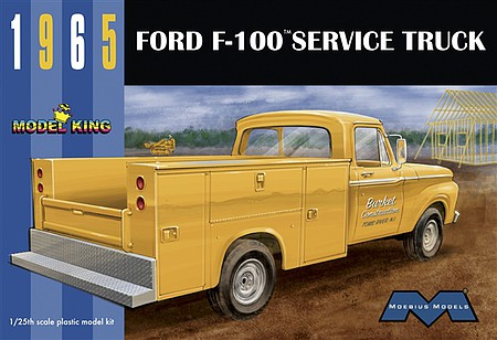 Model-King 65 Ford F-100 w/utility Plastic Model Truck 1/25 Scale #1235