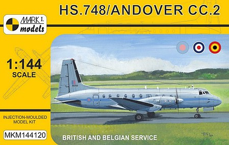 Mark-I 1/144 HS748 Andover CC2 Military British/Belgian Service Transport Aircraft
