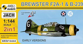 Mark-I 1/144 Brewster F2A1 & B239 Buffalo Early Version USN/Finnish AF Fighter (2 Kits)