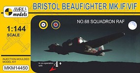 Mark-I 1/144 Bristol Beaufighter Mk IF/VIF No.68 Squadron RAF Fighter (w/Resin)