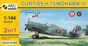 Mark-I 1/144 Curtiss H75/Mohawk Mk III French/British AF Fighter (2 Kits)