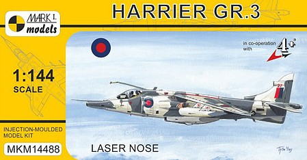 Mark-I 1/144 Harrier GR3 Laser Nose Combat Aircraft (New Tool)