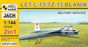Mark-I 1/144 LET L13/TZ13 Blanik Military Service Two-Seater Glider (2 in 1) (New Tool)