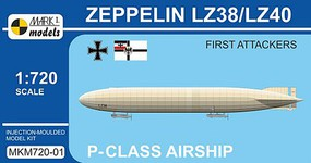Mark-I 1/720 Zeppelin LZ38/LZ40 First Attackers P-Class German Airship