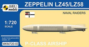 Mark-I 1/720 Zeppelin LZ45/LZ58 Naval Raiders P-Class German Airship