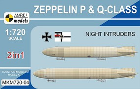 Mark-I 1/720 Zeppelin P & Q Class Night Intruders German Airship (2 Kits)