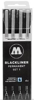 Molotow Blackliner Pen 4pc Set #1 (.05, .1, .2, .4)