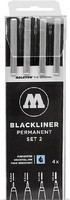 Molotow Blackliner Pen 4pc Set #2 (.3, .5, .7, 1)