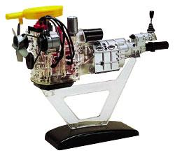 Minicraft Visible Rotary Engine Plastic Model Engine Kit 1/5 Scale #11201