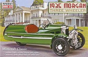 Minicraft 1935 Morgan Three Wheeler Plastic Model Car Kit 1/16 Scale #11241