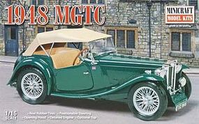 Minicraft 1948 MGTC Plastic Model Car Kit 1/16 Scale #11242
