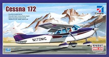 Minicraft Models Cessna 172 Fixed Gear -- Plastic Model Airplane Kit -- 1/48 Scale -- #11635