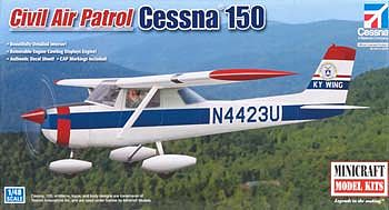 Minicraft Models Cessna 150 CAP -- Plastic Model Airplane Kit -- 1/48 Scale -- #11667