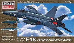 Minicraft F-18 USN Bicentennial Plastic Model Airplane Kit 1/72 Scale #11673