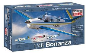 Minicraft Beech Bonanza Plastic Model Airplane Kit 1/48 Scale #11676