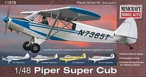Minicraft Piper Super Cub Plastic Model Airplane Kit 1/48 Scale #11678