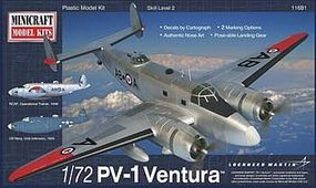 Minicraft PV-1 Ventura USN Post War w/2 Marking Option Plastic Model Airplane Kit 1/72 Scale #11681