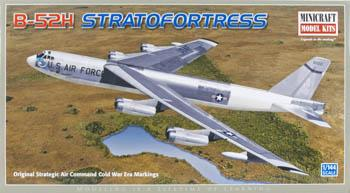 Minicraft B-52 H Strata Fortress SAC/TACT Plastic Model Airplane Kit 1/144 Scale #14615