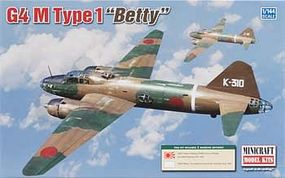 Minicraft Mitsubishi G4M Type 1 Betty IJN Plastic Model Airplane Kit 1/144 Scale #14634