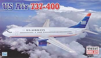 Minicraft 737-400 US Airways Plastic Model Airplane Kit 1/144 Scale #14640