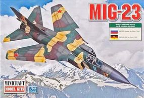 Minicraft MIG 23 USSR Plastic Model Airplane Kit 1/144 Scale #14655