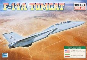 Minicraft F-14A Tomcat USN Plastic Model Airplane Kit 1/144 Scale #14657