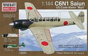 Minicraft Nakajima Myrt Plastic Model Airplane Kit 1/144 Scale #14680