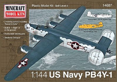 Minicraft Models PB-4Y USN/RAF -- Plastic Model Airplane Kit -- 1/144 Scale -- #14687