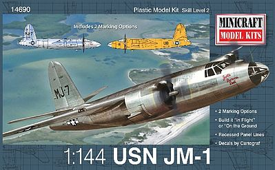 Minicraft JM-1 USN Plastic Model Airplane Kit 1/144 Scale #14690