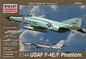 F-4E Phantom ADC/RAF Plastic Model Airplane Kit 1/144 Scale #14692