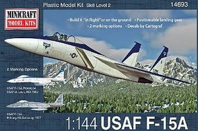 Minicraft F-15A/C w/2 Marking Options Plastic Model Airplane Kit 1/144 Scale #14693
