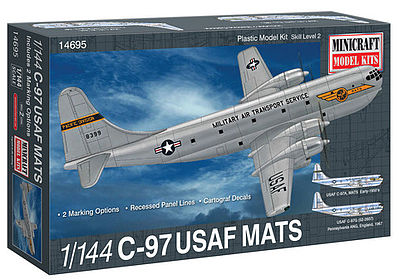 Minicraft C-97 USAF MATS w/2 Marking Options Plastic Model Airplane Kit 1/144 Scale #14695