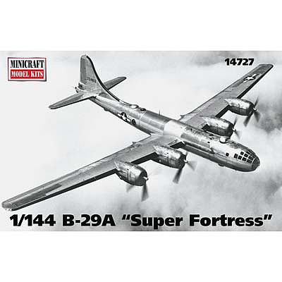 Minicraft Models 1/144 B29A Superfortress Aircraft (New Tooling for clear parts)