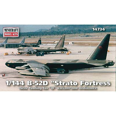 Minicraft Models 1/144 B52D Stratofortress Aircraft (New Tooling for D Bombs)