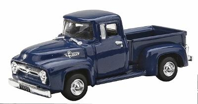 Motor Max 1956 Ford F-100 Pickup Truck -- HO Scale Model Railroad Roadway Vehicle -- #8010