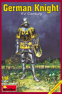 Mini-Art German Knight XV Century -- Plastic Model Military Figure -- 1/16 Scale -- #16002