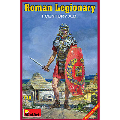 Mini-Art Roman Legionary I Century A.D. -- Plastic Model Military Figure -- 1/16 Scale -- #16005