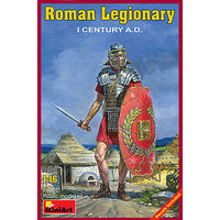 Mini-Art Roman Legionary I Century A.D. Plastic Model Military Figure 1/16 Scale #16005