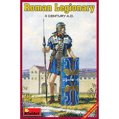 Mini-Art Roman Legionary II Century A.D. -- Plastic Model Military Figure -- 1/16 Scale -- #16007