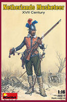 Mini-Art Netherlands Musketeer XVII Plastic Model Military Figure 1/16 Scale #16010