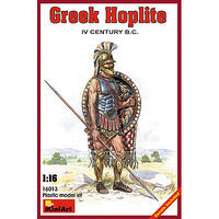 Mini-Art Greek Hoplite IV Century B.C. Plastic Model Military Figure 1/16 Scale #16013