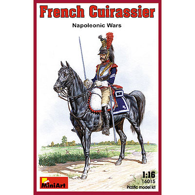 Mini-Art French Cuirassier Napoleonic Wars -- Plastic Model Military Figure -- 1/16 Scale -- #16015